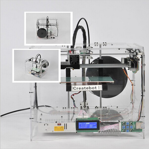 Принтер Createbot  Transparent Acrylic 3D Printer Single/Dual Nozzle createbot black full metal fdm 3d modeling printer