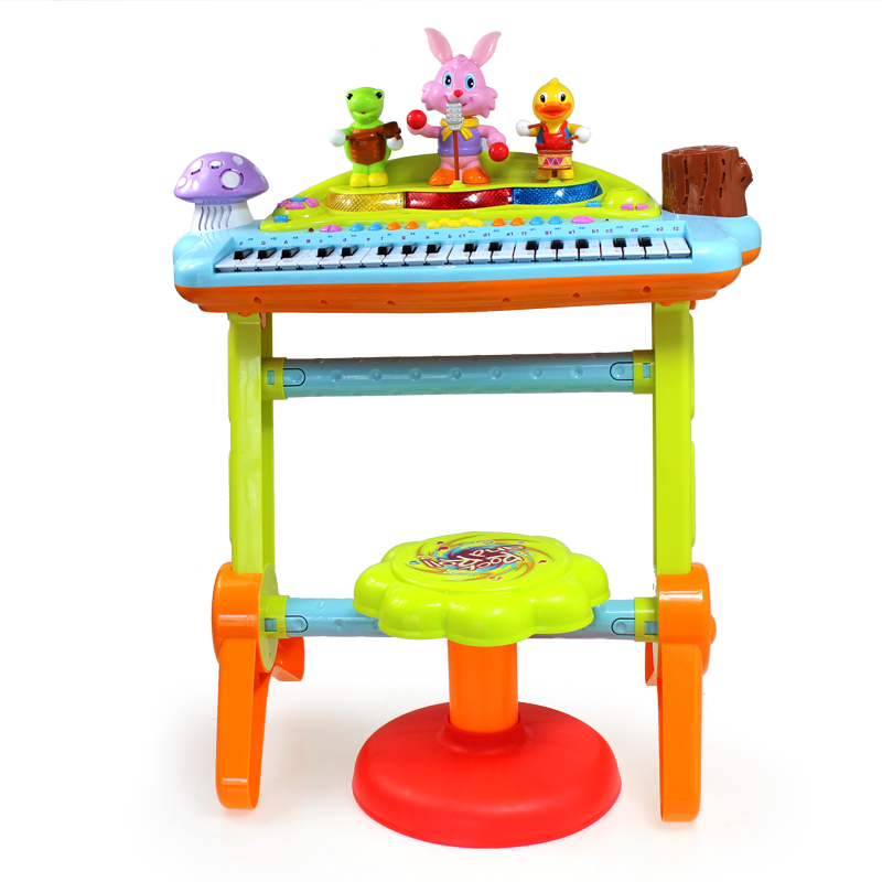 Детский синтезатор Huile toys 669 electric educational inchworm with music light toddler learning machine toy toy musical instrument huile toys 927