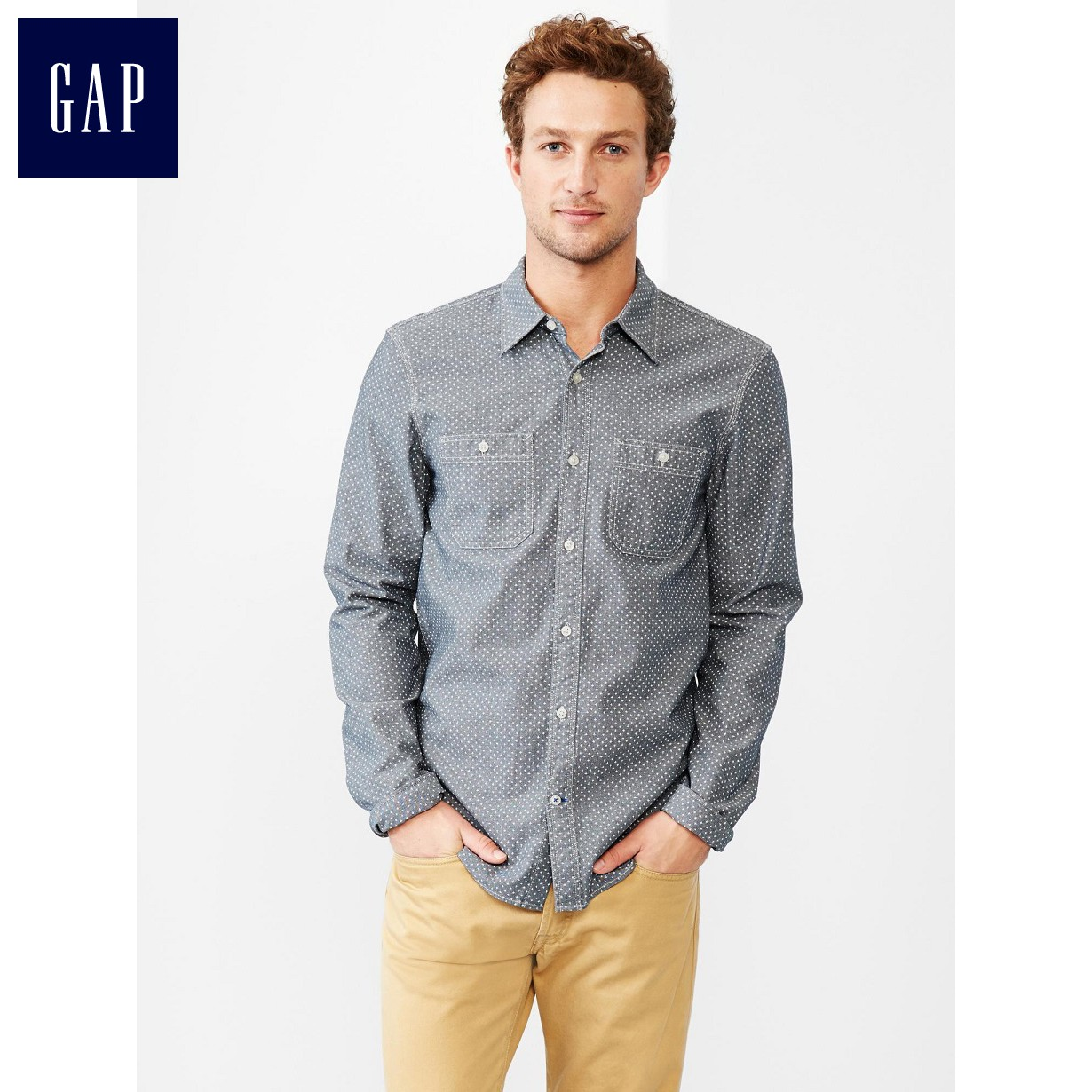 Рубашка мужская GAP 000141524 141524 349 рубашка мужская gap 142643 349