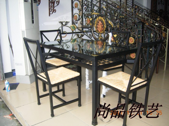 набор складной мебели Wrought iron dining chair dining chair the lounge chair creative cafe chair