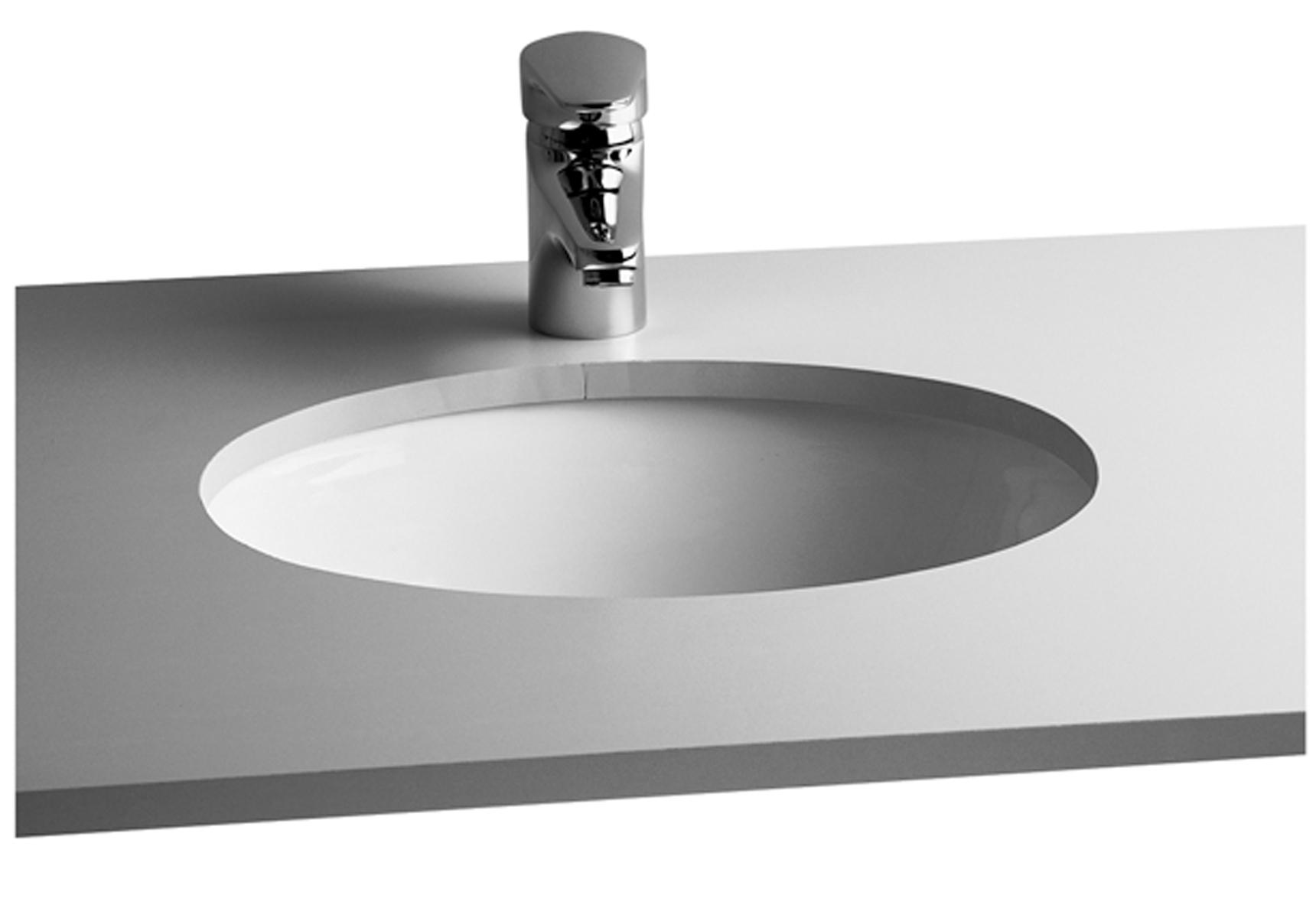 Раковина для мебели Vitra  Pera S20 6039B003-0012 42cm унитаз подвесной vitra form 300 безободковый с микролифтом 7755b003 6039