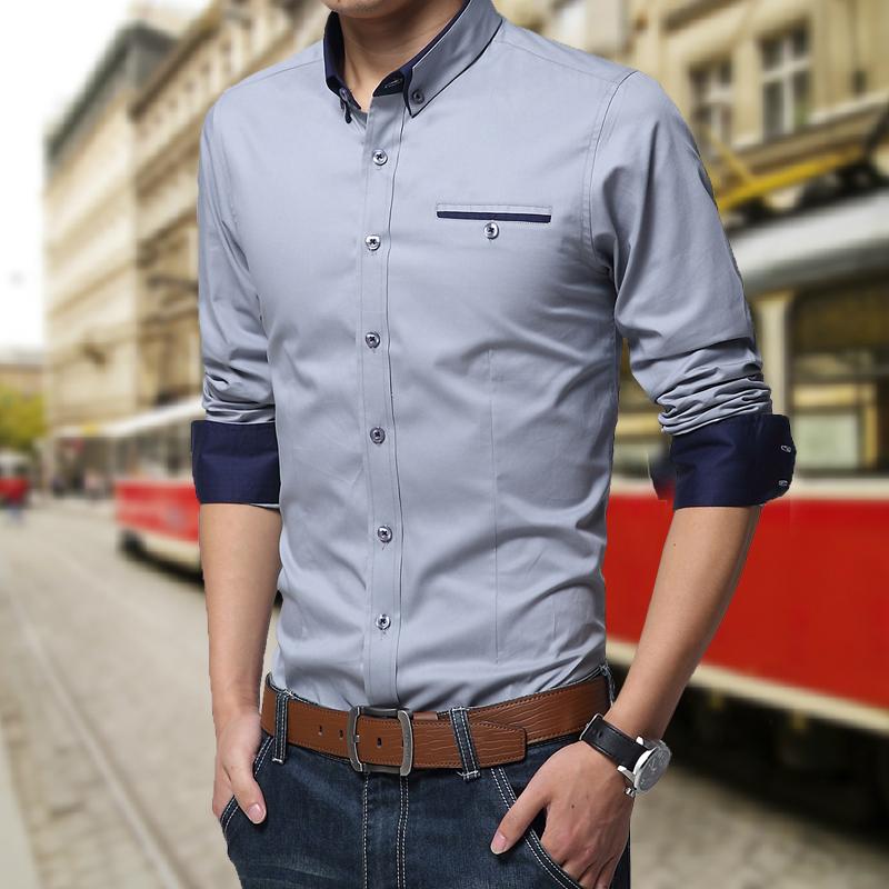 Рубашка мужская Spring shirt 1306a 2015
