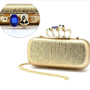 Сумка  s2015009 Europe Women Fashion Bag Skull Gold Clutch 2016 women s clothing fashion in europe and the atmosphere bohemia elasticity knitted cultivate one s morality dress