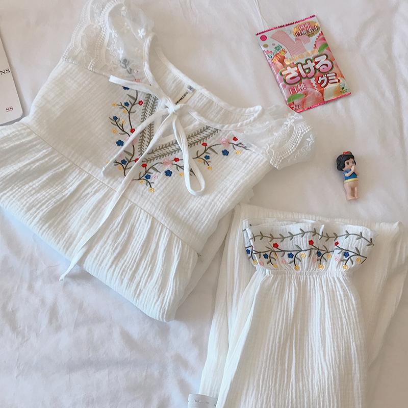 月子服套装春秋纯棉纱布孕妇睡衣夏季薄款产后哺乳喂奶家居服套装