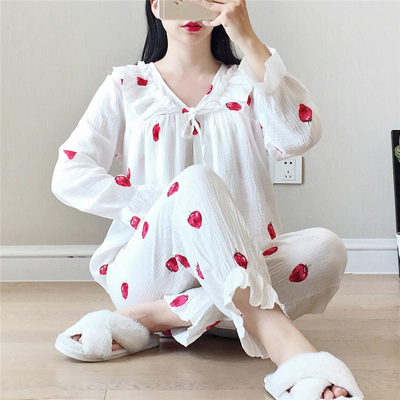 薄款棉纱月子服夏季孕妇睡衣春秋纯棉产后产妇哺乳衣怀孕期套装