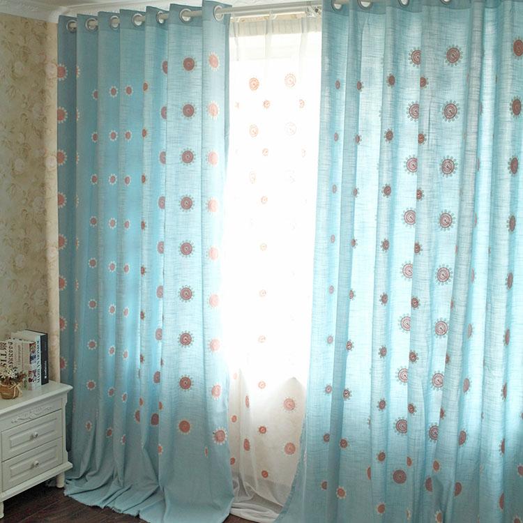 Шторы тканевые Новый Сад ветер шерсть вышитый занавес ткани вышитые хлопка шторы гостиная спальня оттенок ткани подсолнечника