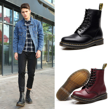 Gaobang 1460 Martin Boots Men's British Style Couple Shoes Retro-vintage Leather Boots Round Head Trend European and American Workwear Shoes