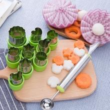 创意水果拼盘工具西瓜挖球雕刻工具饼干造型模具蔬菜水果切花模具-