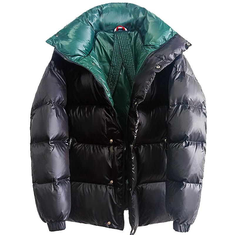 欧洲站2020冬季 M家90白鸭绒男女款羽绒服加厚保暖蓬松面包服外套