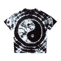 TDE原创潮牌精梳加厚T恤男女滑板情侣滑板短袖BMX太极