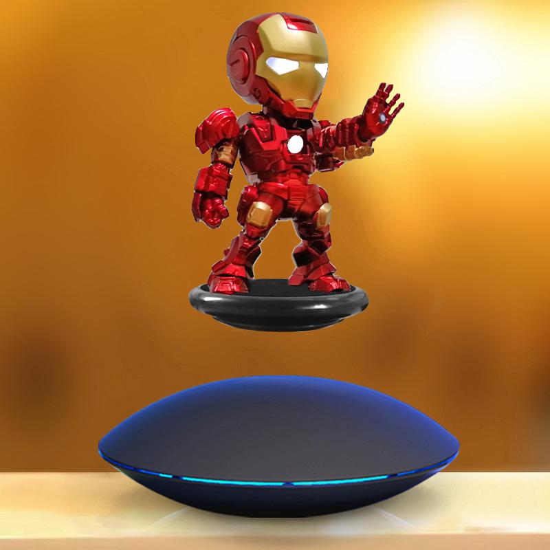 磁悬浮钢铁侠 摆件旋转展示台孙悟空创意礼物手办玩具DIY展示架