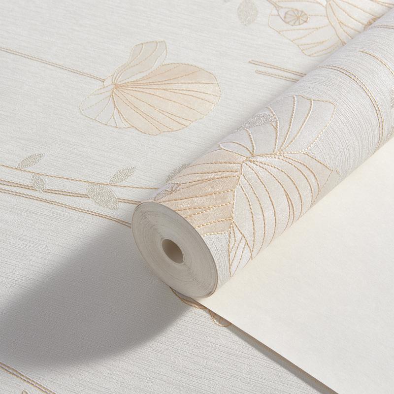 玉兰墙纸 浮雕立体印花浪漫田园壁纸绽放256