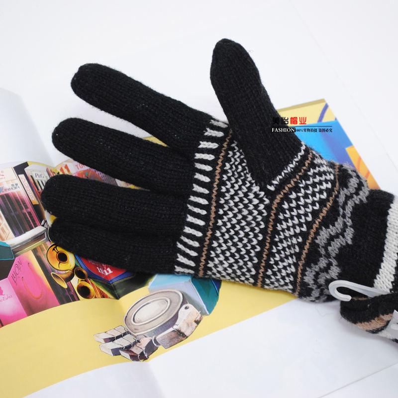 Перчатки Пакет почты густой теплой мужской теплая зима шерсти шерстяные варежки движения вождения перчатки Велоспорт