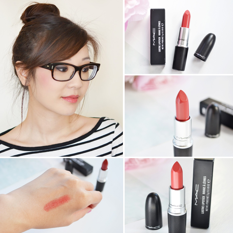 MAC Lustre Lipstick Touch Review Swatch