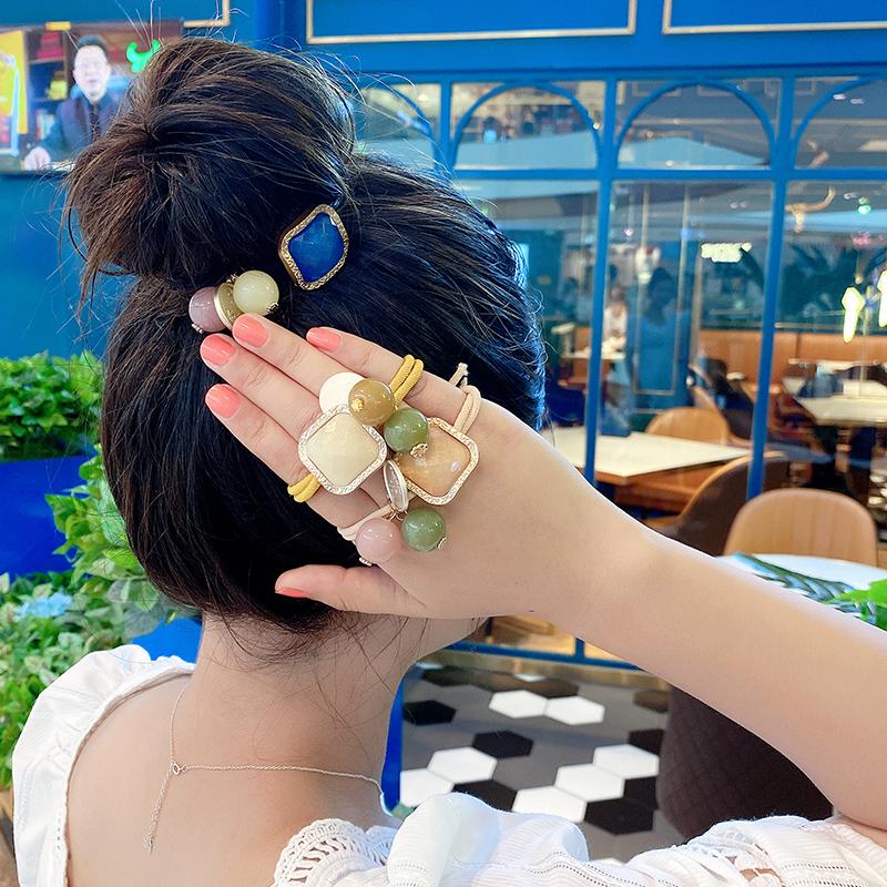 新款发圈韩国东大门头绳女气质星空果冻珠发饰加粗皮筋气质发绳