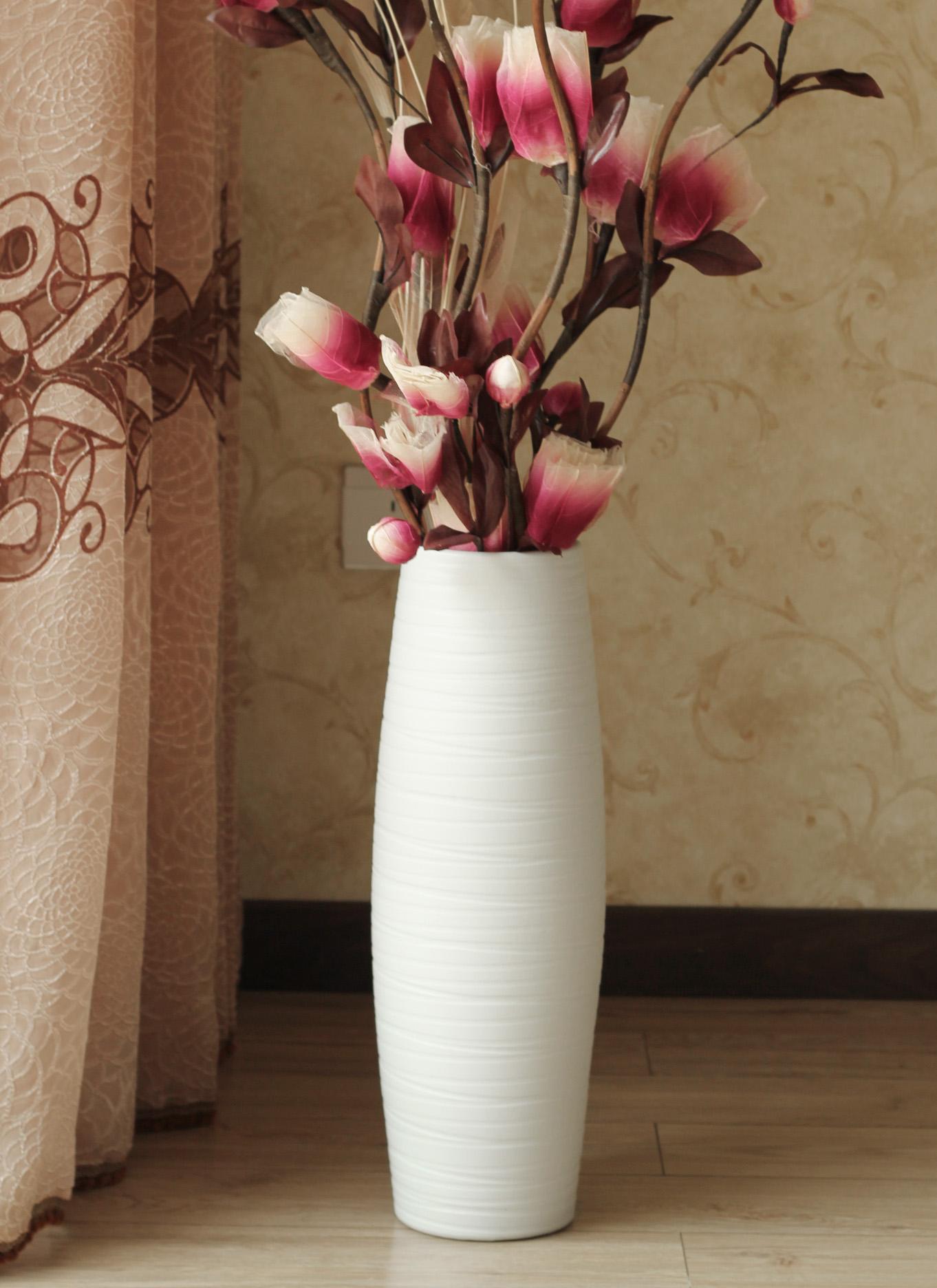 Декоративные цветы своими руками в высокую вазу 53