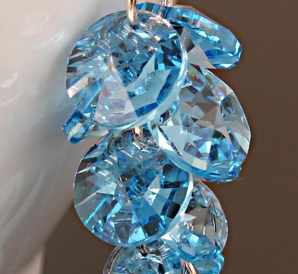 Клипсы Пакет mail, австрийский импорта multi цвета кристалл серьги многоточечное кристалл пирсинг уха уха клип бесплатный подарок