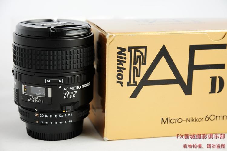SLR объектив 99 новых A05 подержанные объектив макро авто фокус Nikon AF 60 f/2.8 d 60 мм F2.8