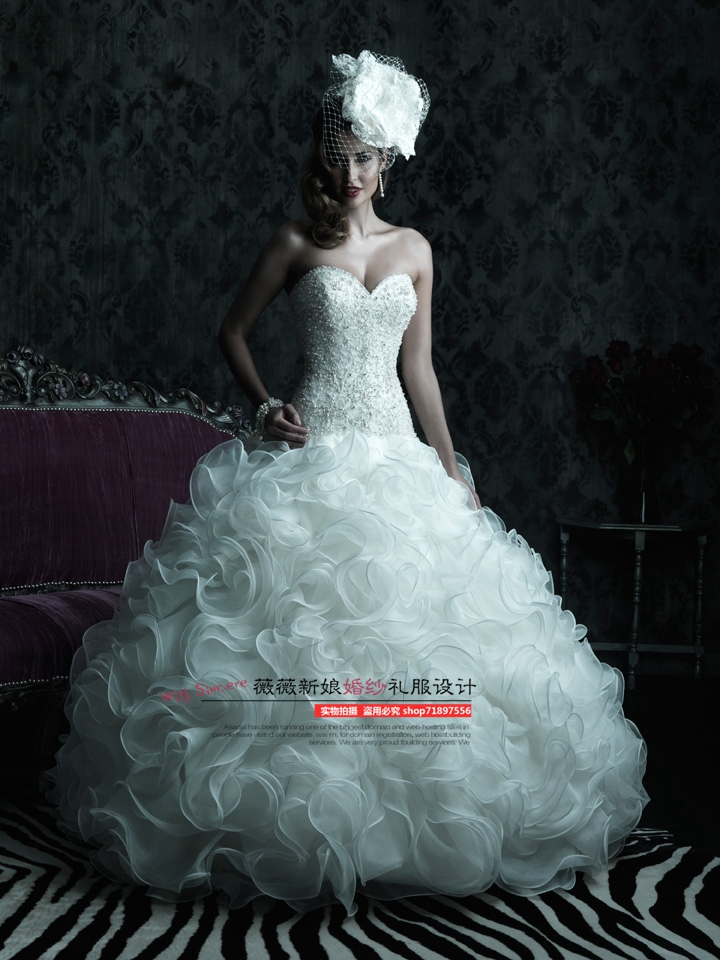 Свадебное платье Vivian the bride wedding dress designs HS/6779 2014 Vera Wang bride of the water god v 3