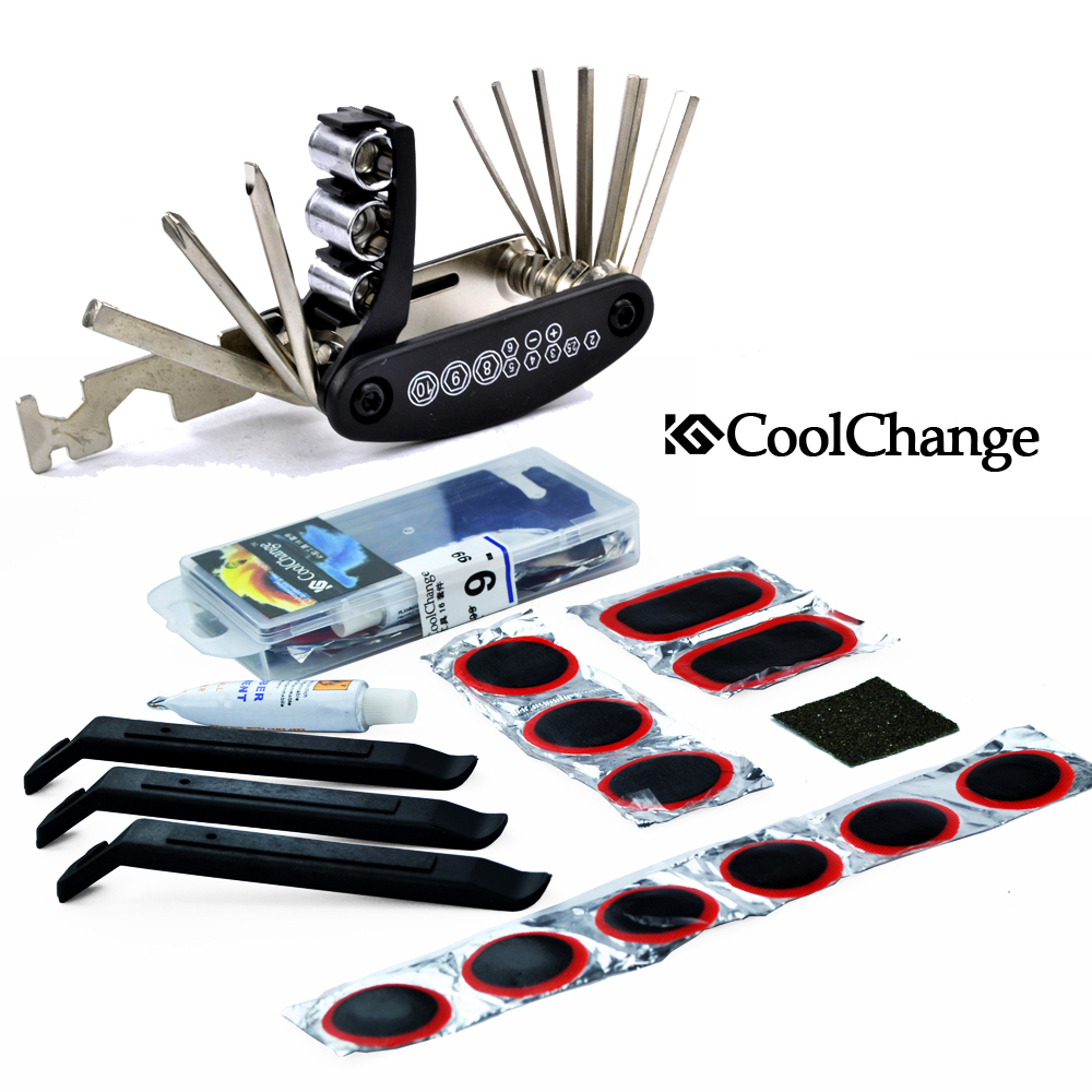 вело инструменты Coolchange 22047 21044 16 coolchange 22047 21044 bicycle bike tyre repair kit set black