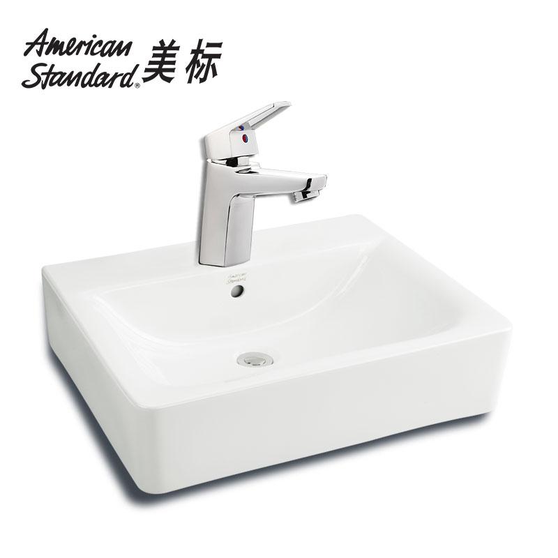 美标卫浴方形面盆CP-F550+T501