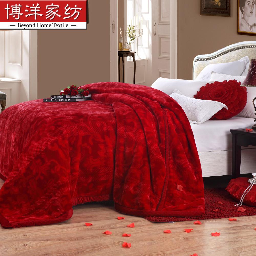 博洋家纺拉舍尔毛毯W91316110204
