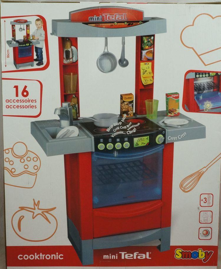 Детский игровой набор   SMOBY COOKTRONIC MINI TEFAL smoby игровой набор кухня tefal studio xxl