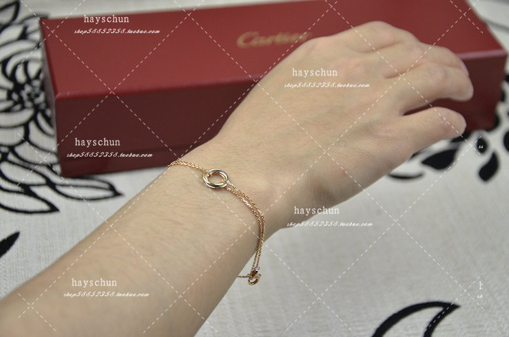 цепочка на руку Cartier  18K 11mm Trinity B6036815 korting okb 1082 crr