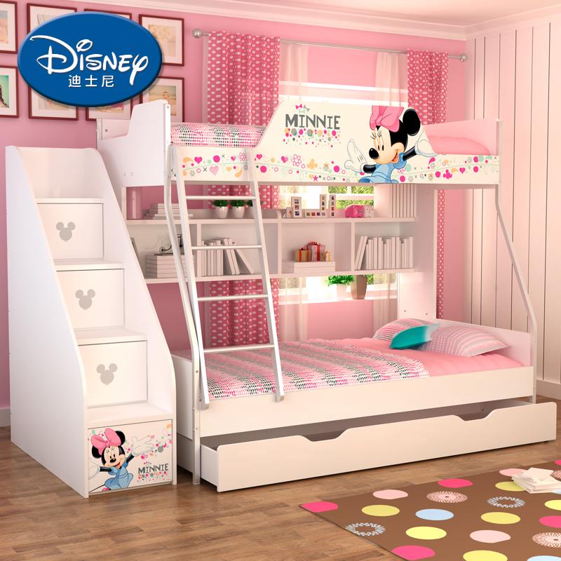 酷漫居迪士尼儿童子母床高低床