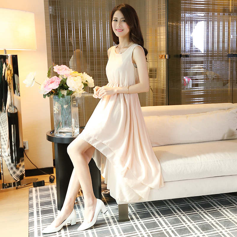 Женское платье  055 Korean Style Summer Wear Fashion Chiffon Women Long Dress direct heating 216 0707005 216 0707009 216 0683008 216 0683013 216 0683010 216 0683001 216pvava12fg 216qmaka14fg stencil
