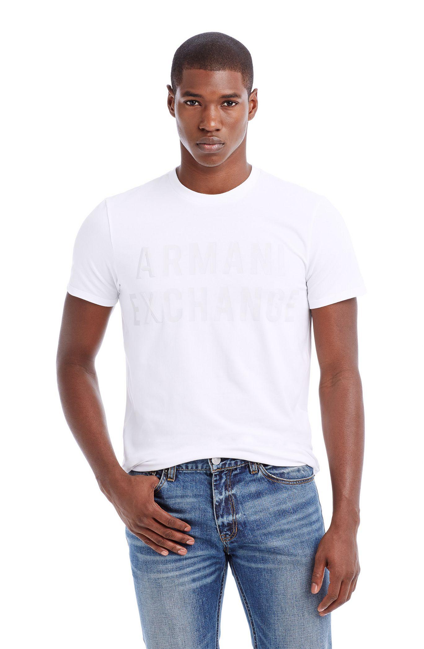 Футболка мужская Armani  2015 AX Exchange LOGO женская рубашка armani 85 ax 2015 j5c552