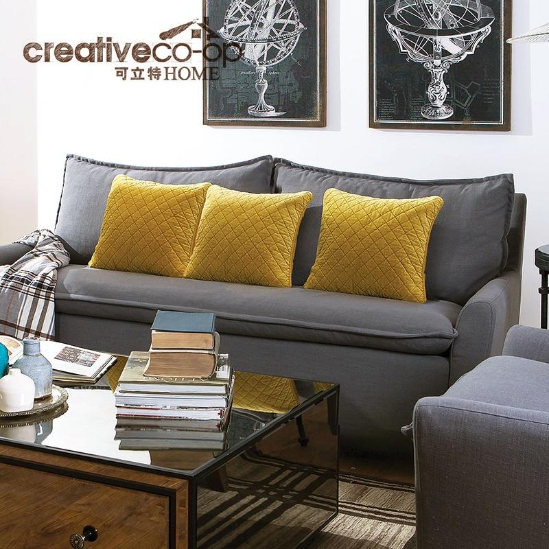 可立特灰色三人沙发DF0047