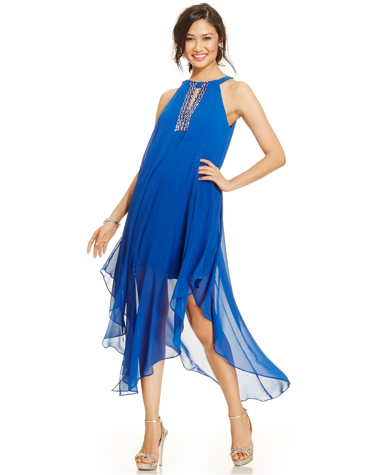 Женское платье VINCE CAMUTO  2015 two by vince camuto new red blue drawstring women s size xl maxi dress $129