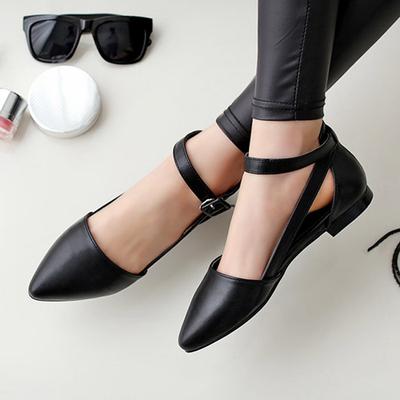 超舒适 凉鞋女夏平底韩国新款百搭女鞋子真皮包头凉鞋女罗马凉鞋