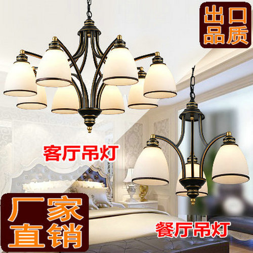 European style lighting wrought iron chandelier island country vintage style chandeliers flush mount painting lighting fixture lamp empress chandeliers
