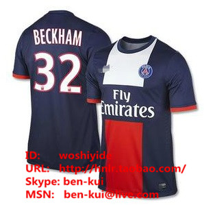 Футбольная форма   13/14 PSG Top AAA+ Paris Saint-Germain Home 32 Fans Version psg paris saint germain bordeaux