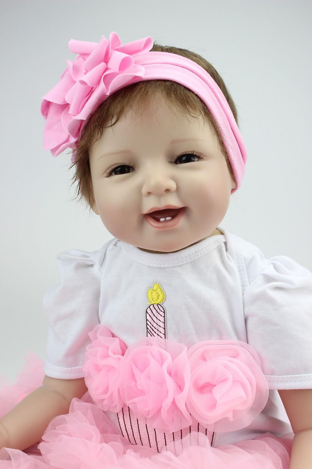 кукла Realistic Lifelike Reborn Baby Doll 22 handmade silicone soft reborn dolls baby girl 22 inch lifelike princess babies doll toy with crown dress kids birthday xmas gift