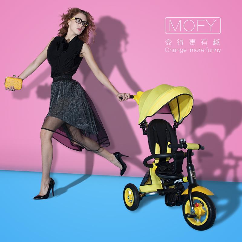[新风尚]小虎子正品折叠儿童三轮车脚踏车充气轮婴儿手推车宝宝童车T300天猫特价 484.00 元