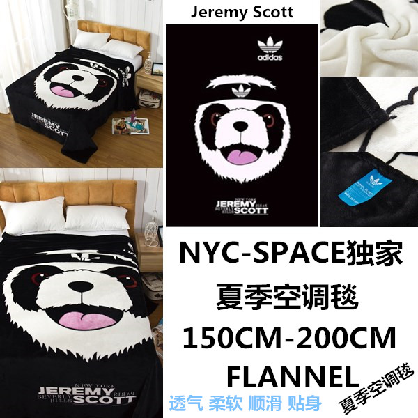 Плед Jeremy Scott Panda  NYC-SPACE Jeremy Scott