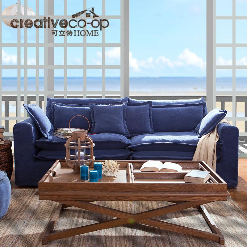宝蓝色欧式沙发