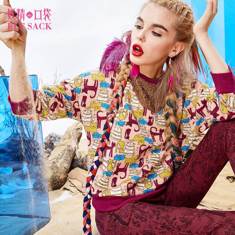 Толстовка женская Elf sack 1431054 джинсы женские elf sack 1518007