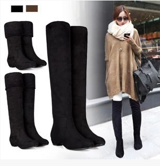 Женские сапоги Female Knee-high Boots High Heels Shoes Girl Boot Winter hot sale new arrival black red full grain leather zip fashion women boots round toe square heels over the knee shoes woman ab888