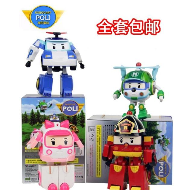 Трансформер Robocar poli bn069068 4pcs set robocar poli korea kids toys robot transformation anime action figure toys for children