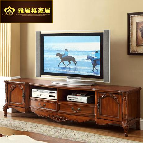 【实木电视机柜】_欧式电视柜图片