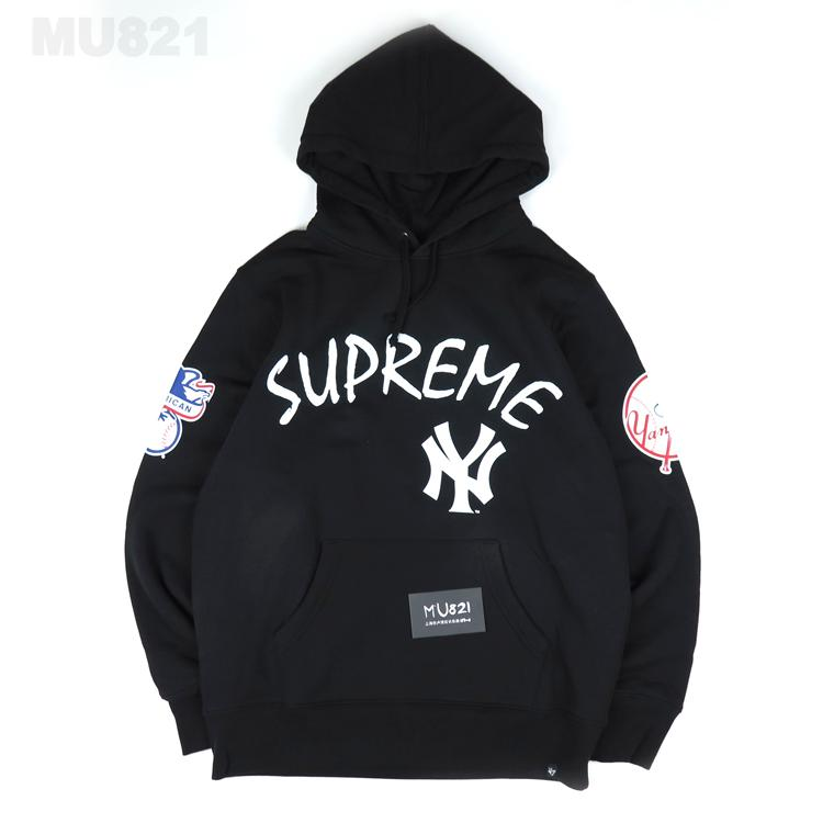 Толстовка Supreme  SS15 NEW YORK YANKEES PULLOVER HOODIE intex 66725 supreme comfort