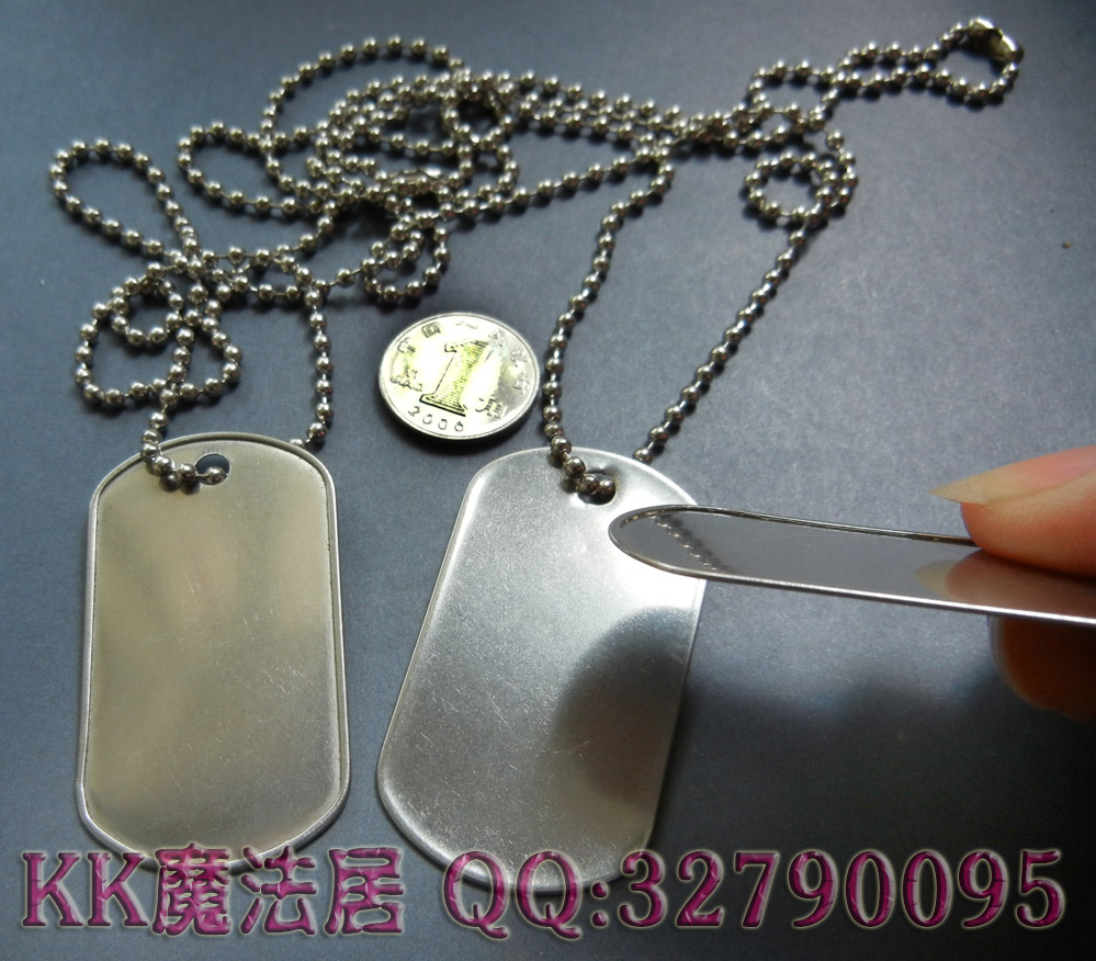 Армейский жетон Stainless steel dog tags portable dog shaped stainless steel multifunctional edc tool