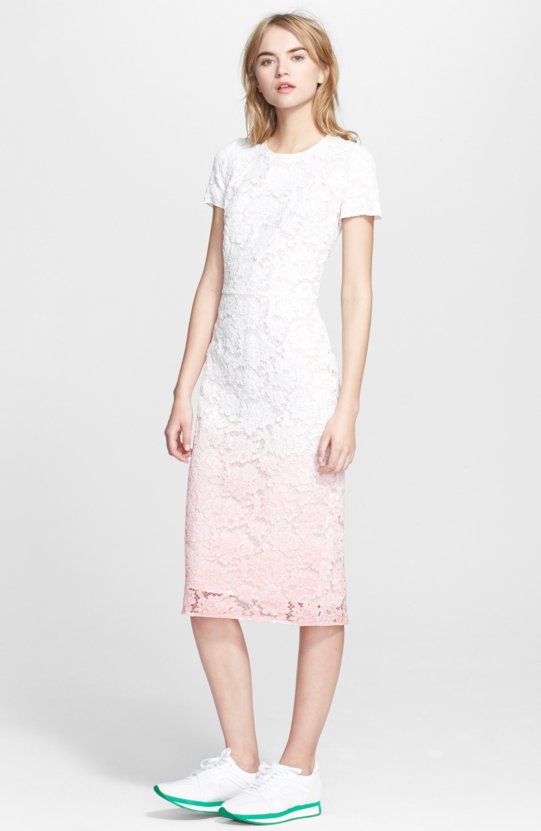 Женское платье Burberry  Prorsum burberry кружевное платье