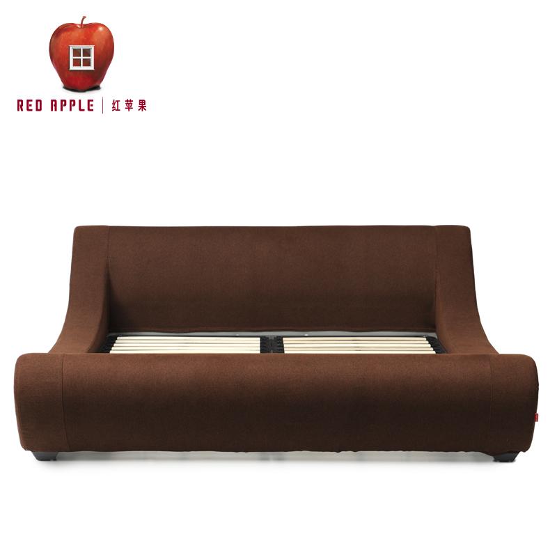 红苹果D系列排骨架板式双人床D8807