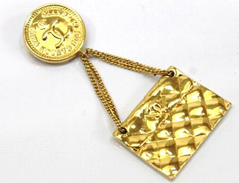 Брошь Chanel  Vintage LOGO CF кольцо chanel cc logo