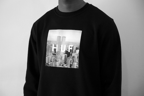 Толстовка HUF NEW YORK BOX LOGO CREW huf сандалии